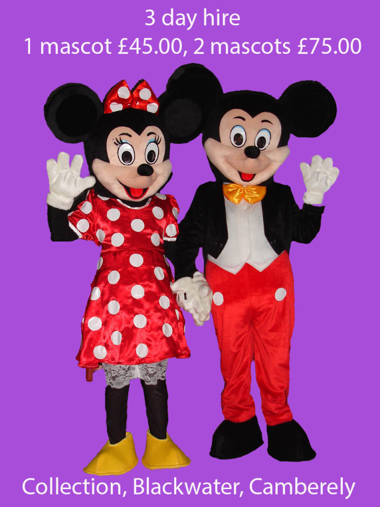 Mickey & Minnie Mascot Hire