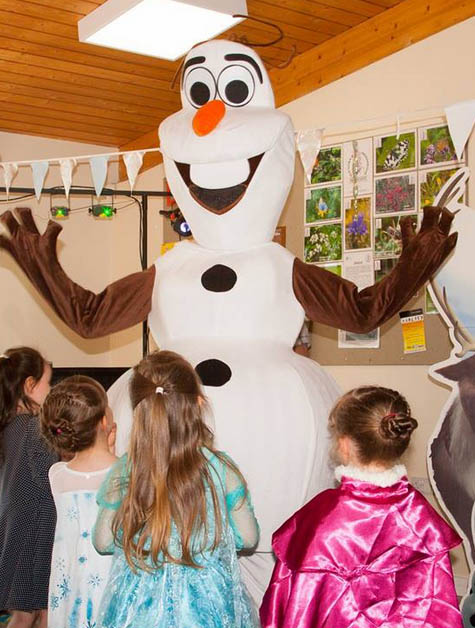 Olaf mascot costume party pic
