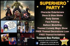 Superhero Childrens Entertainer Hampshire Berkshire Surrey