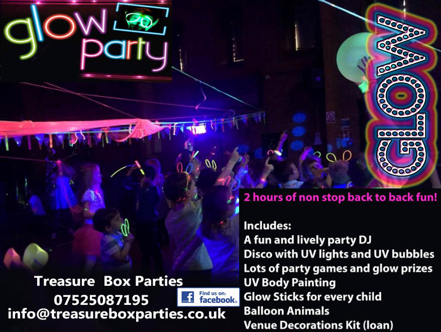 uv disco glow in the dark kids children