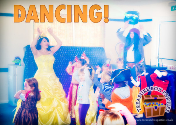 Princess-Party-Entertainer-Surrey-Hampshire-Berkshire-Belle-Kids-princess-party-dancing