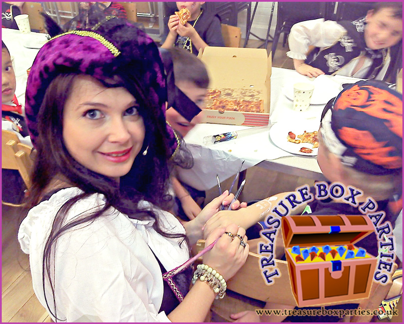Pirate Penny Face Painting At Lukes 7th Birthday Party In