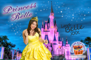 Princess Belle the themed party childrens entertainer