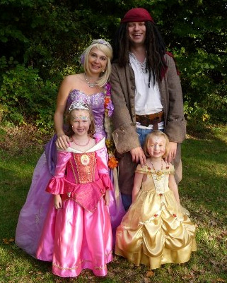 Princess and Pirate Party in Surrey Hampshire and Berkshire