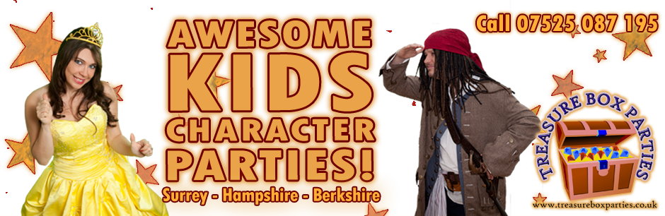 Childrens Entertainer Parties Surrey Berkshire Hampshire - Treasure Box Parties Supplies Kids Party Games Ideas