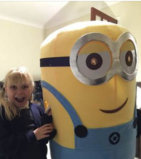 Minion Mascot with Ella