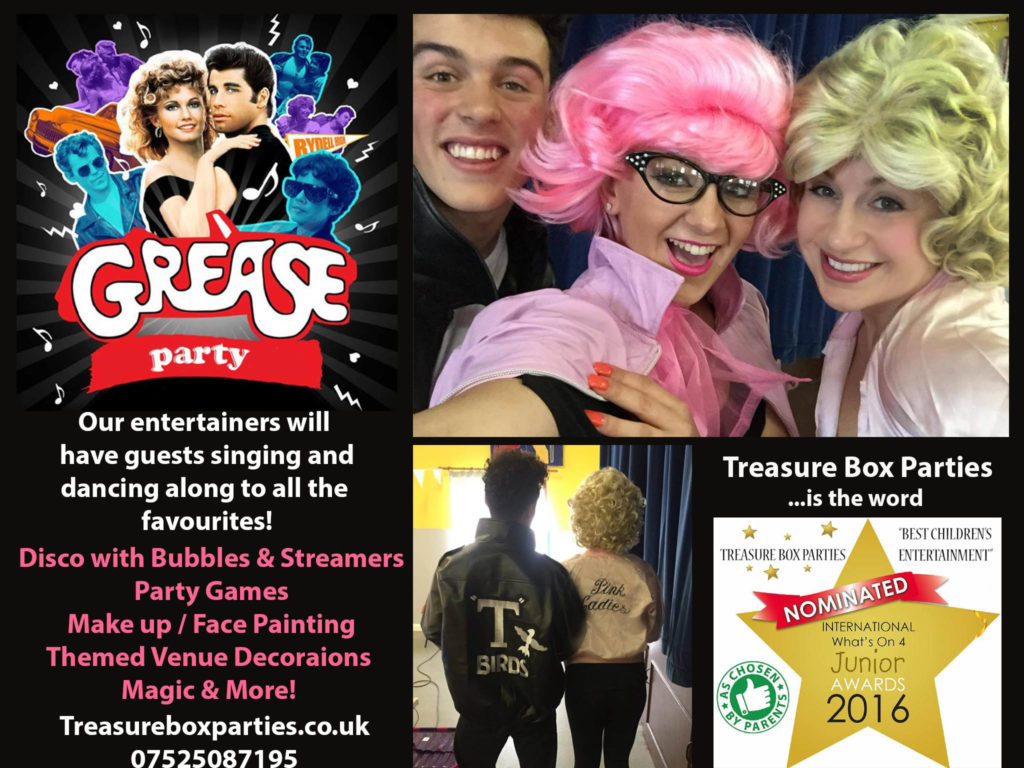 Grease Party Advert