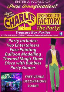 Charlie Chocolate factory Willy Wonka Childrens Entertainer Hampshire Berkshire Surrey