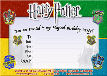 Free Printable Harry Potter Birthday Party Invitation