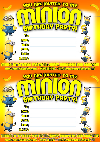 photograph relating to Minions Printable Invitations called Absolutely free Minions Video Downloads - Printable Social gathering Invites