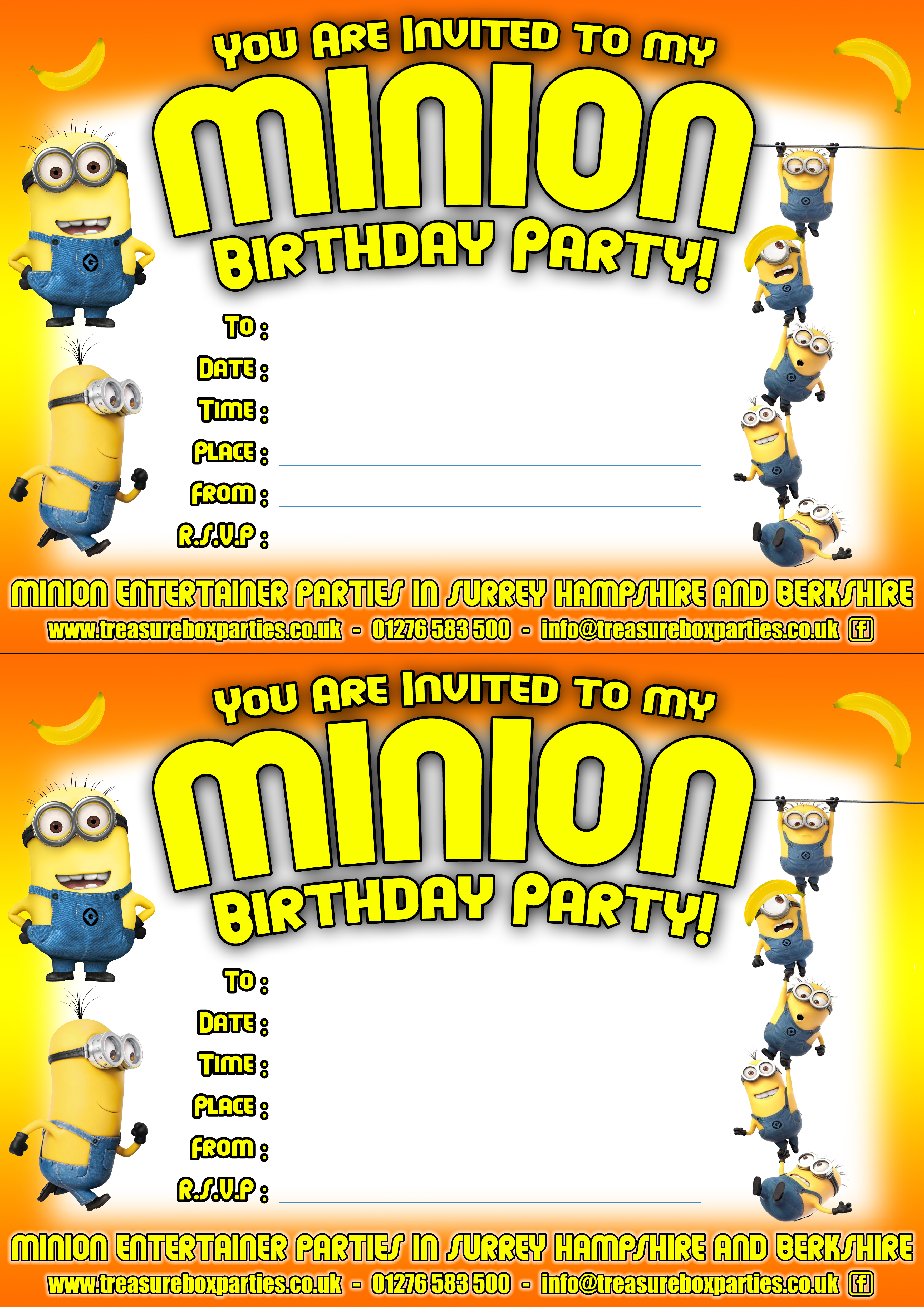 Free Minions Movie Downloads - Printable Party Invitations ...