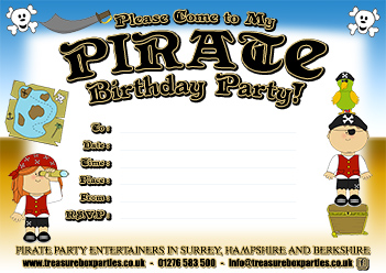 Free Pirate Party Printable Downloads Childrens Entertainer