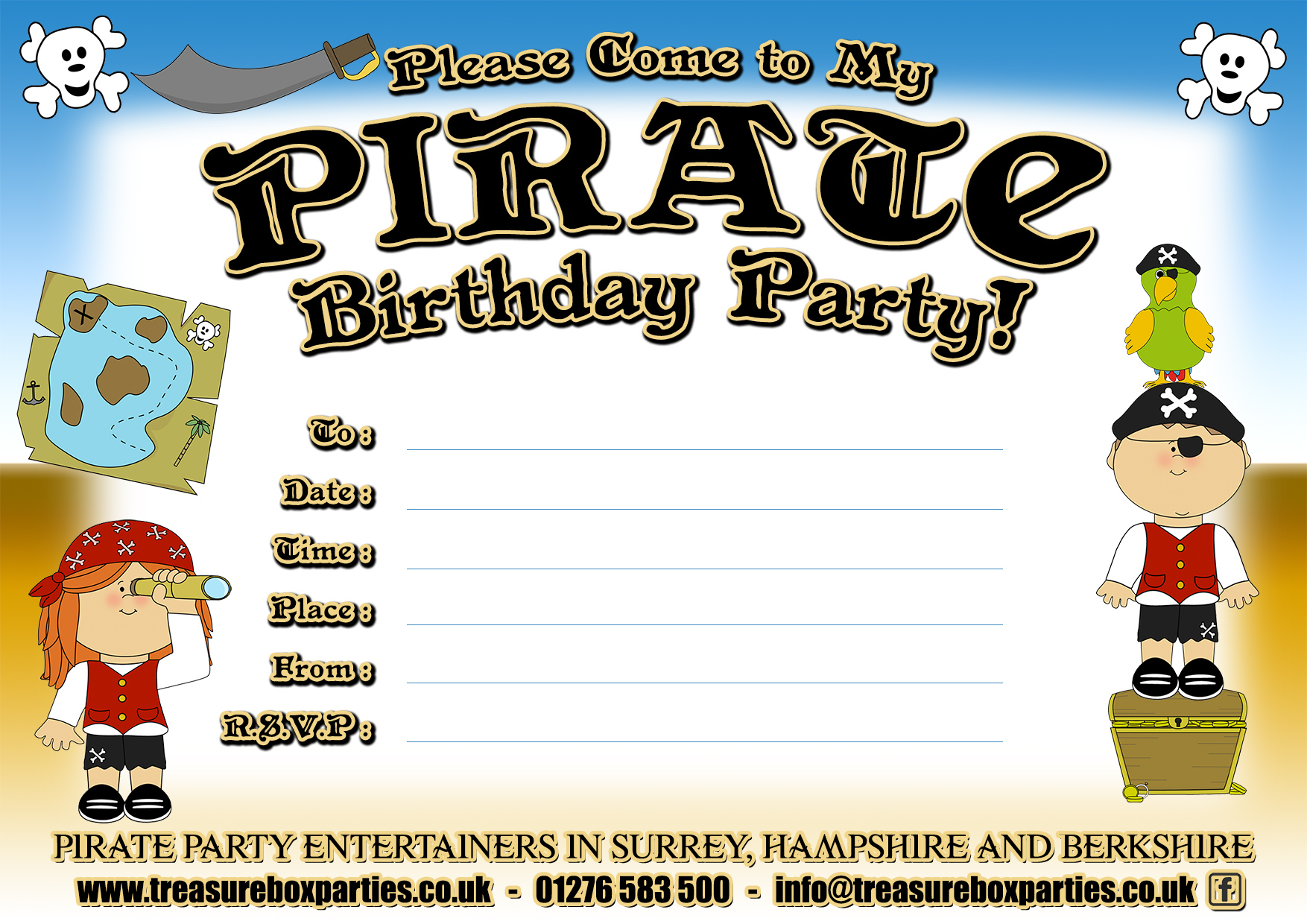 A Free Printable Pirate Birthday Party Invitation Childrens – Pirate Party Invite