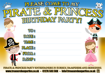 graphic about Printable Princess Invitations referred to as Pirate and Princess Bash Downloads - No cost Invites and