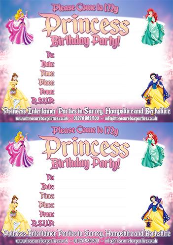 disney princess party invitation printable sheet childrens