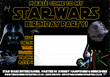Free Star Wars Party Invitation Print at Home Childrens