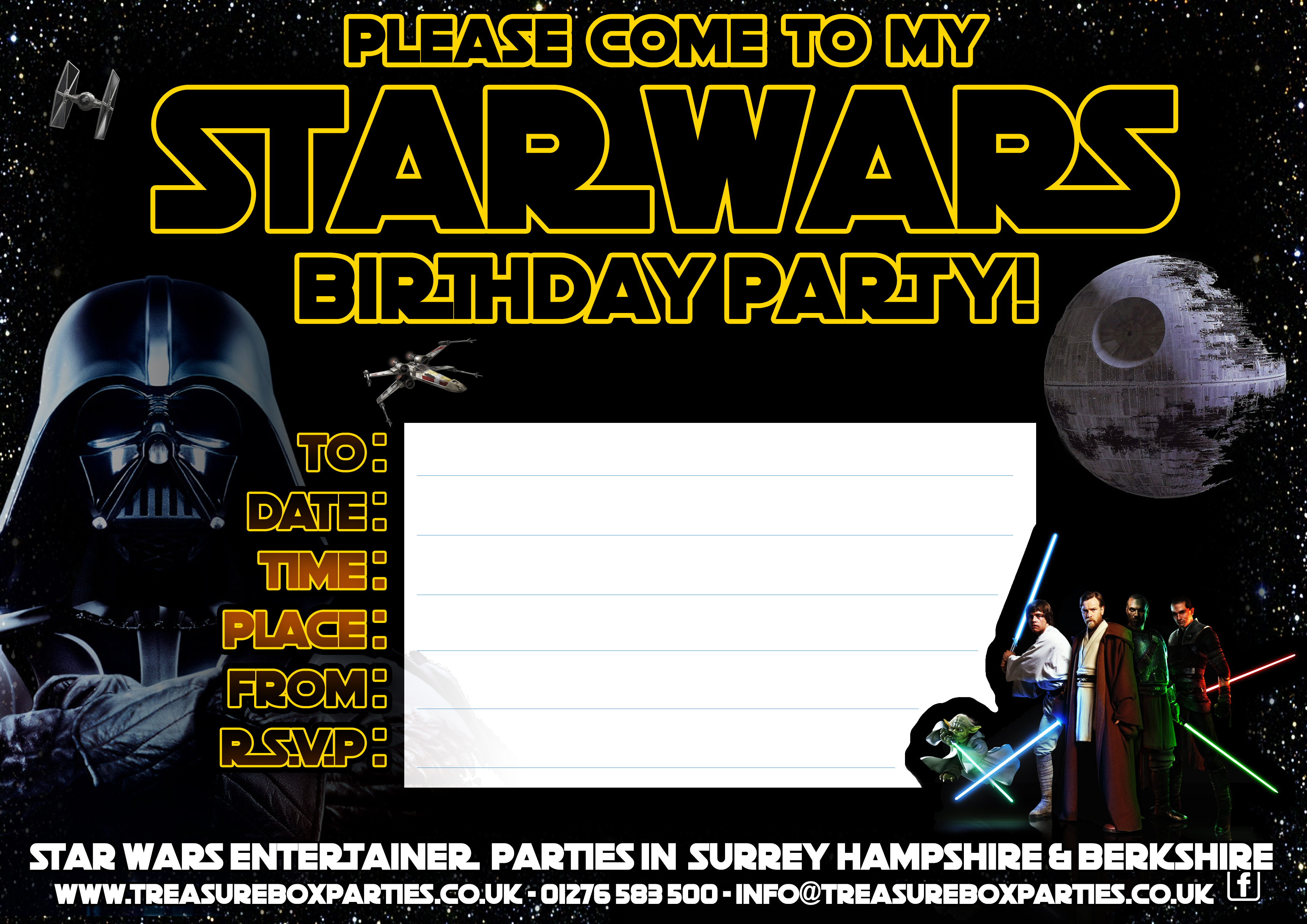 Free Star Wars Party Invitation Print At Home