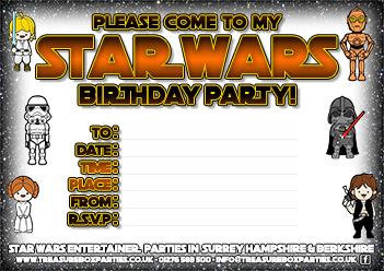 Star Wars Printable Birthday Party Invitation