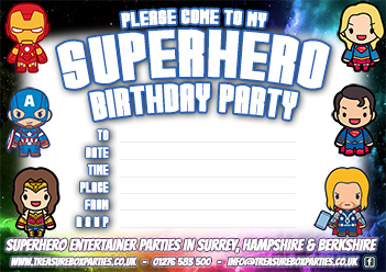 Free Printable Superhero Party Invitation