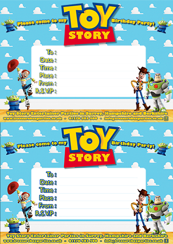Free email invitation templates for word invitation card for Toy story invites templates free