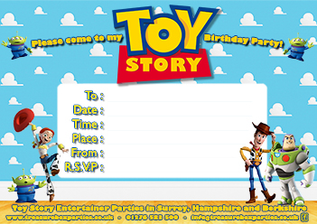 Wild image with free printable toy story invitations