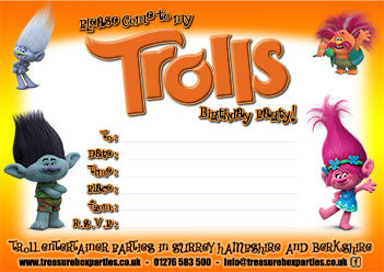 photo regarding Trolls Printable Invitations named Trolls Online video Printable Birthday Social gathering Invitation - Childrens