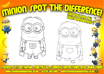 photograph regarding Printable Minions identify A Cost-free Printable Minions Destination the Big difference Game Sheet