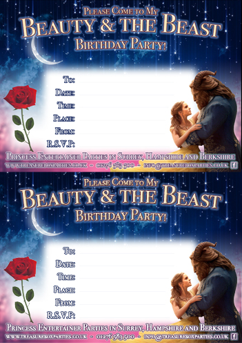 photograph regarding Free Printable Beauty and the Beast Birthday Invitations called Cost-free Natural beauty and the Beast Downloads Printable Get together