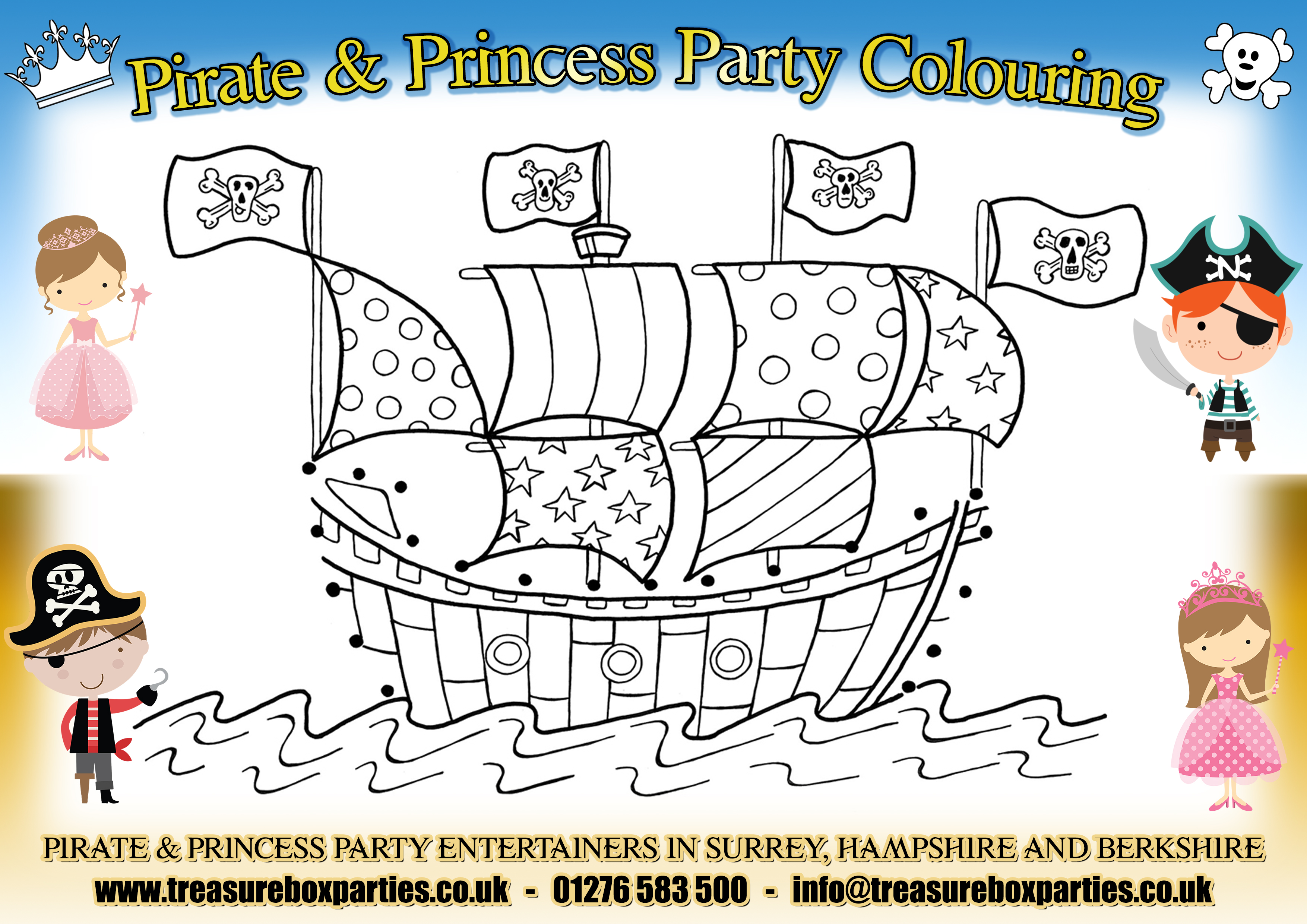 Pirate and Princess Party Downloads - Free Invitations and