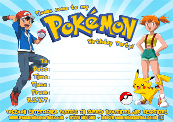 Free Pokemon Party Downloads Printable Party Invitations