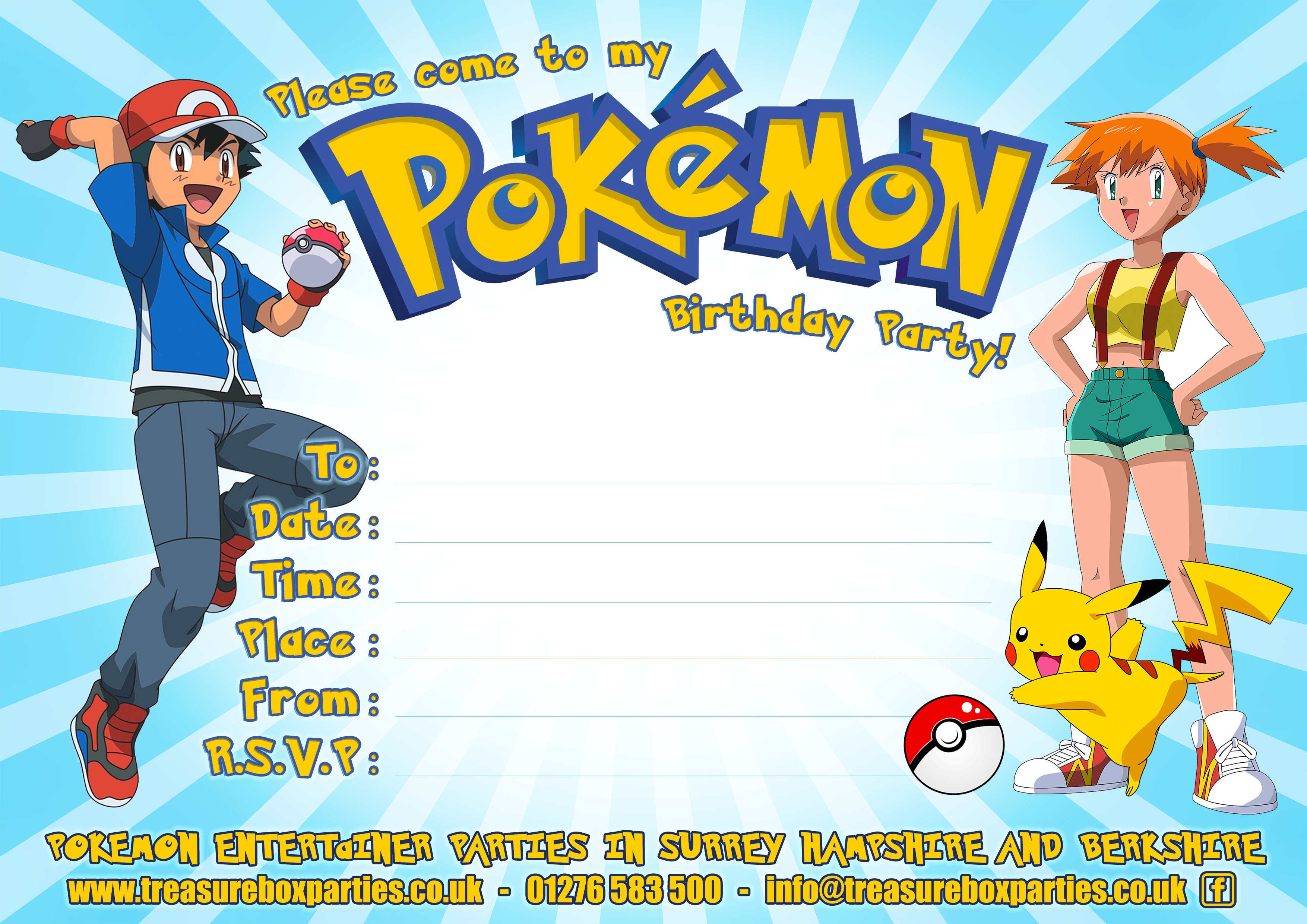 Free Pokemon Party Downloads – Printable Party Invitations ...