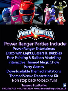 Power Ranger Childrens Entertainer Hampshire Berkshire Surrey