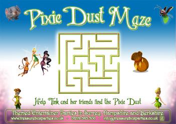 Free Printable Disney Fairies Tinkerbell Maze Activity