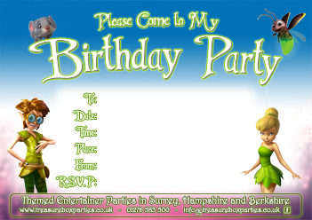 A Free Disney Fairy Birthday Party Invitation