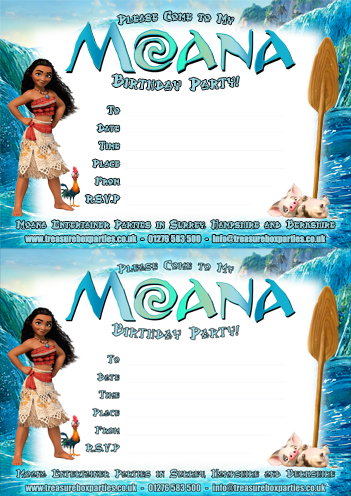 image about Moana Printable Invitations named A No cost Moana Printable Birthday Social gathering Invitation Sheet