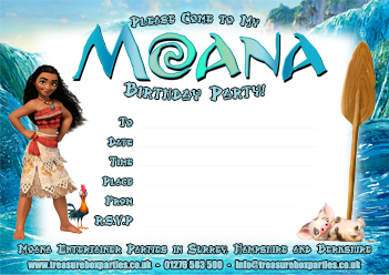 photograph relating to Printable Moana Invitations named A Absolutely free Moana Printable Get together Invitation - Childrens
