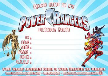 A Free Power Rangers Birthday Party Invitation