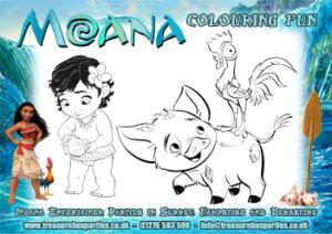 Moana - Colouring Sheet 02