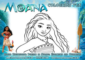 Moana - Colouring Sheet 04 - thumb