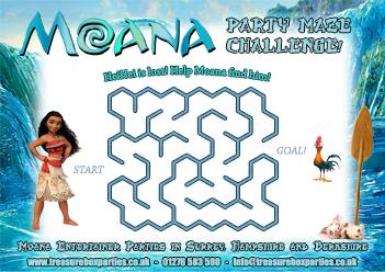 Free Moana Birthday Party Printable