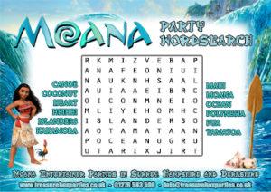 Moana - Wordsearch