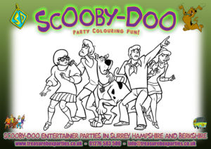Scooby Doo Printable Colouring Sheet 03