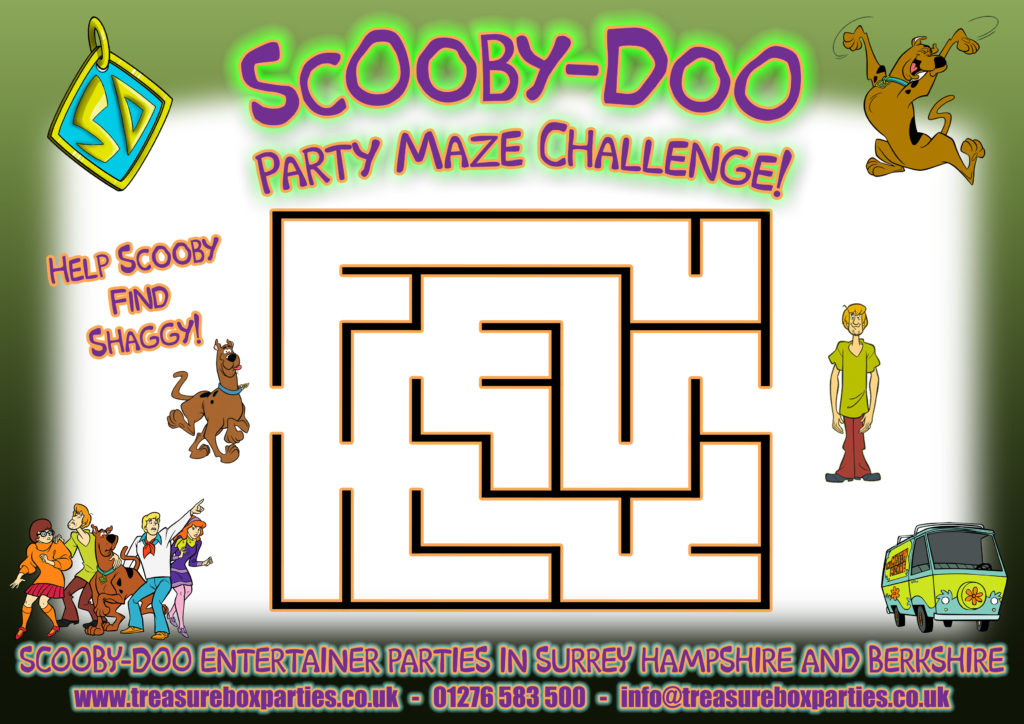 image relating to Scooby Doo Printable known as Scooby Doo Printable Maze Recreation Sheet - Childrens