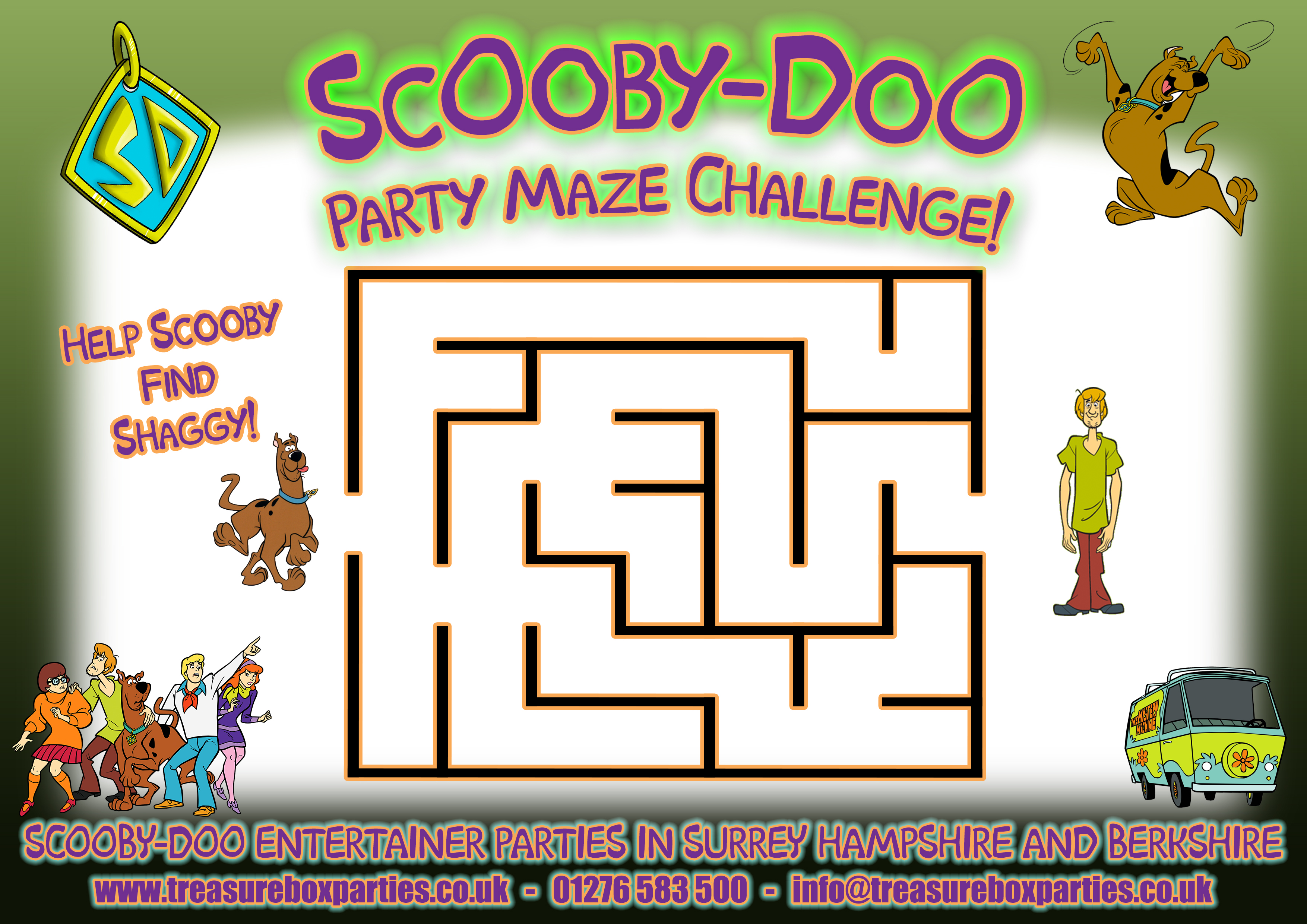 Free Scooby Doo Downloads to Print at Home - Childrens Entertainer ...