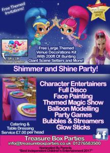 Shimmer and Shine Childrens Entertainer Hampshire Berkshire Surrey