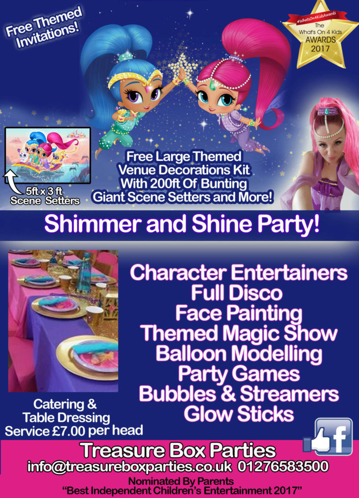 Shimmer and Shine Childrens Entertainer Hampshire Berkshire Surrey