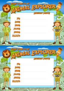 Animal Explorer Party Invitation