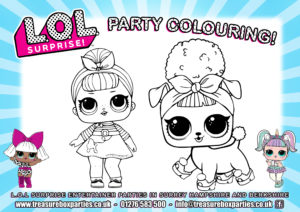LOL dolls - Party Colouring 01