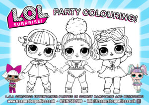 LOL dolls - Party Colouring
