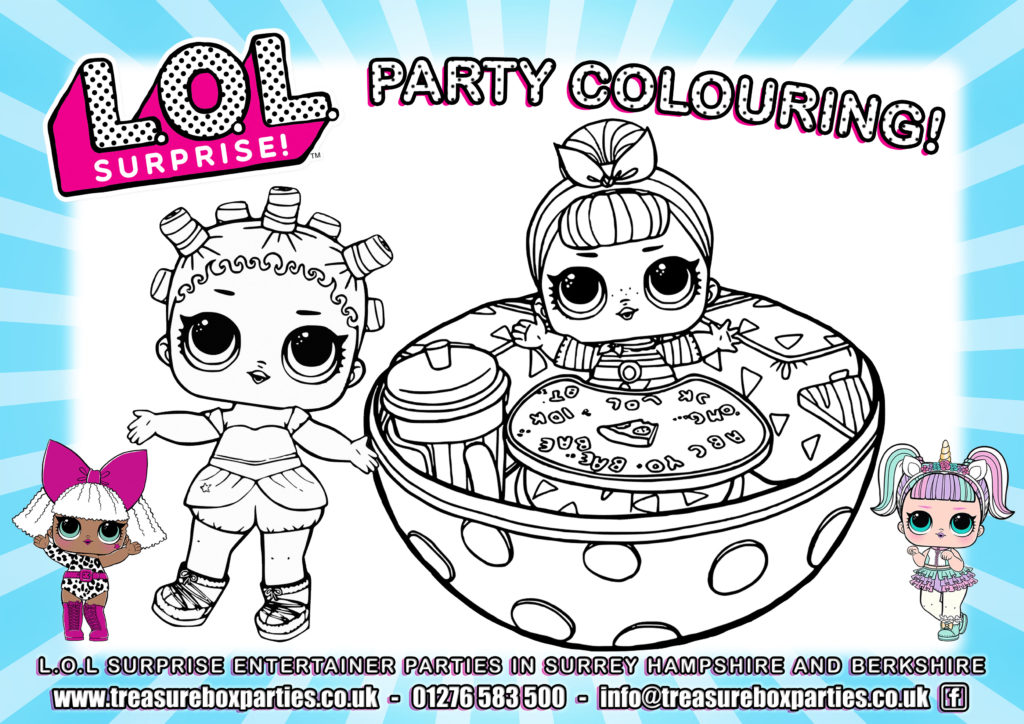 Lol Dolls Party Colouring 03 Childrens Entertainer